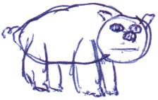Ma personnalité dans un cochon
